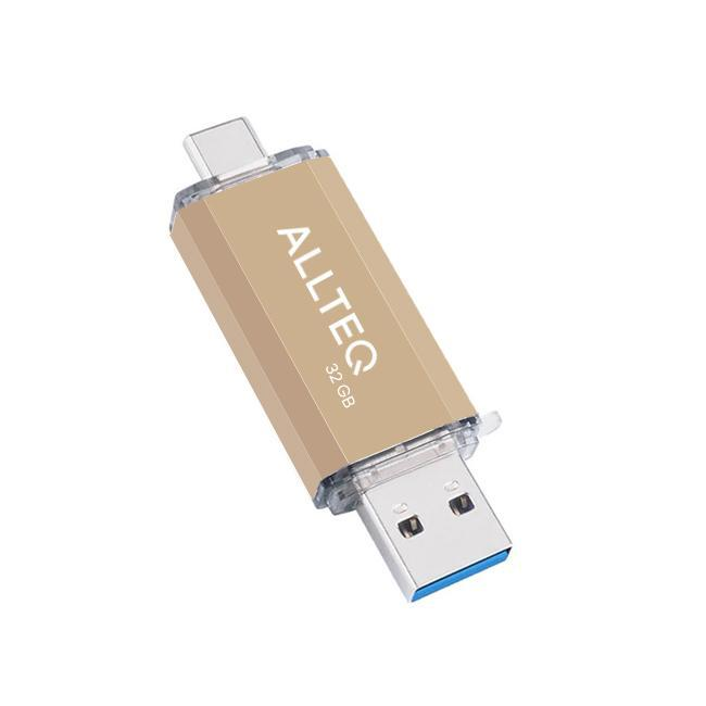 Allteq - USB Stick - Opslagcapaciteit  - 32 GB - Goud