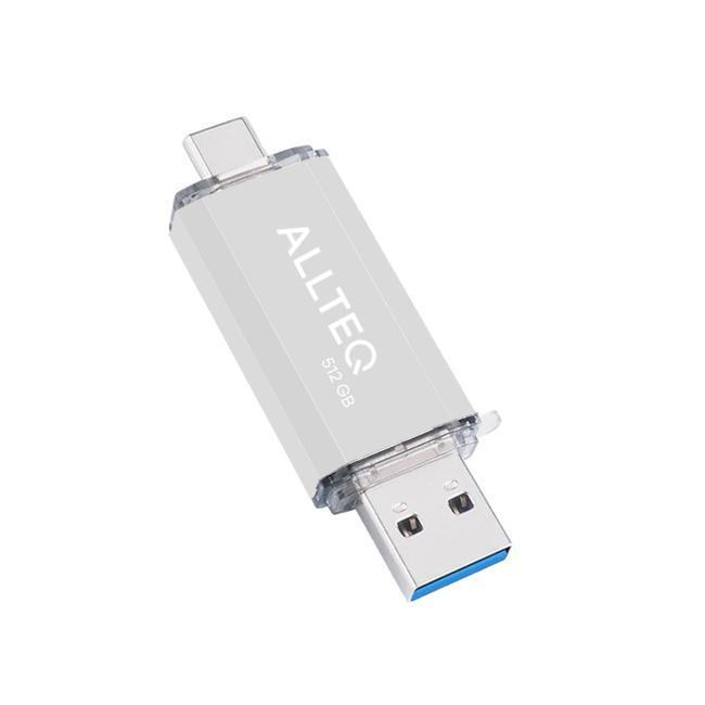 Allteq - USB Stick - 512 GB - Zilver