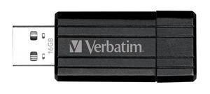 Verbatim - Pin Stripe - USB Stick - Opslagcapaciteit  - 16 GB - Zwart